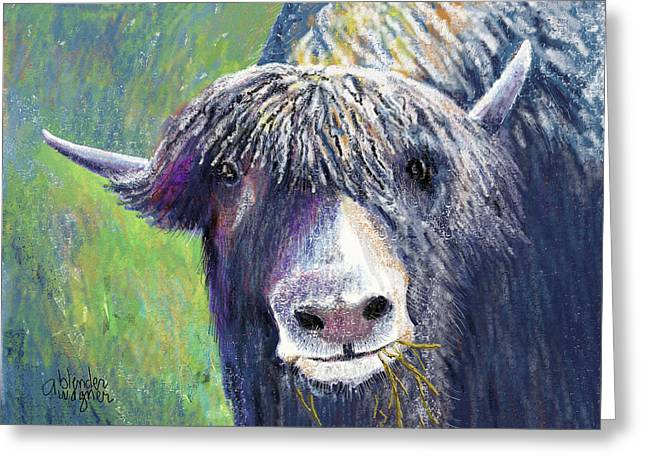 Yak Greeting Cards - Yakity Yak Greeting Card by Arline Wagner