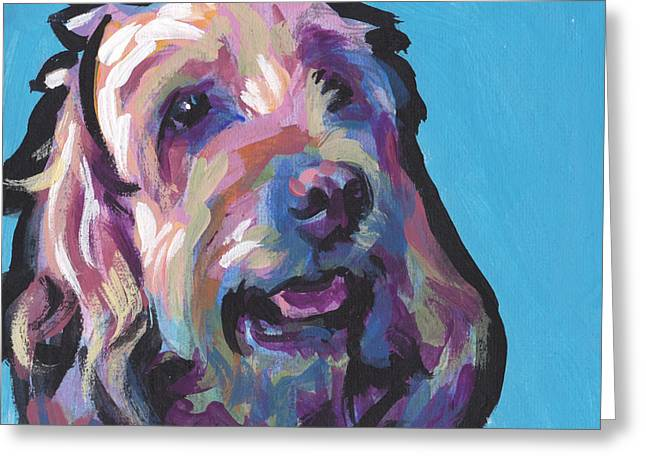 Dog Lover Art Greeting Cards - Yankee Doodle Greeting Card by Lea