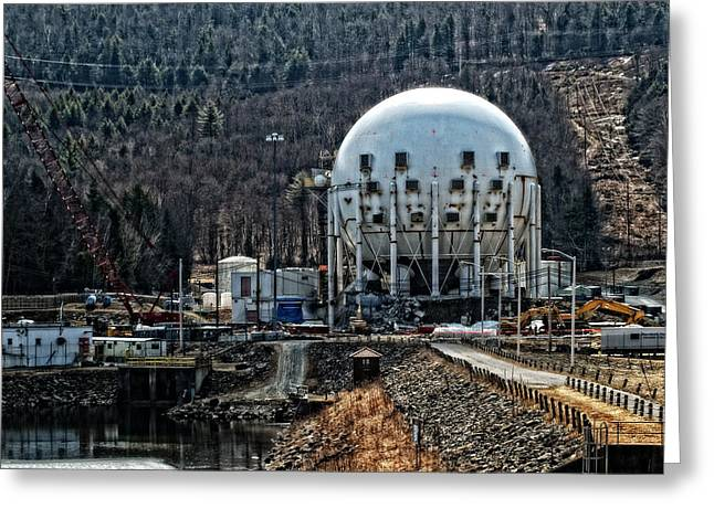 Generators Greeting Cards - Yankee Rowe Nuclear Power Plant Greeting Card by Mike Martin