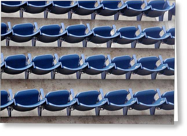 Yankee Stadium Bleachers Greeting Cards - Yankee Seating Greeting Card by JAMART Photography