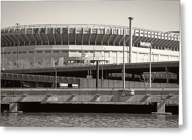 Yankee Stadium Bleachers Greeting Cards - Yankee Stadium    1923  -  2008 Greeting Card by Daniel Hagerman