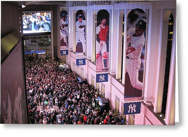 Yankee Stadium Great Hall 2009 World Series Color  Greeting Card by Terry DeLuco