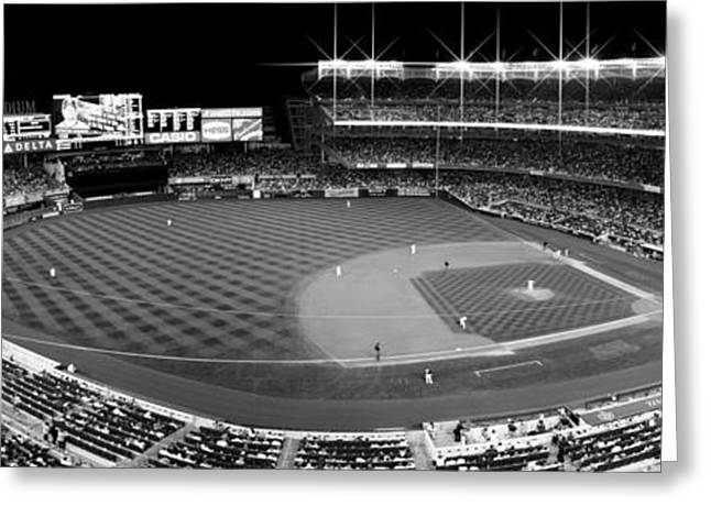 Bronx Bombers Greeting Cards - Yankee Stadium Greeting Card by Michael Klement