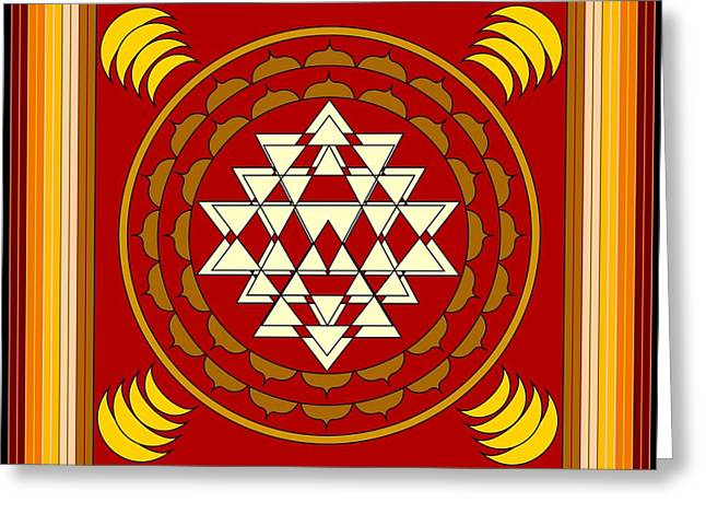 Mario Carini Greeting Cards - Yantra Meditation Greeting Card by Mario Carini