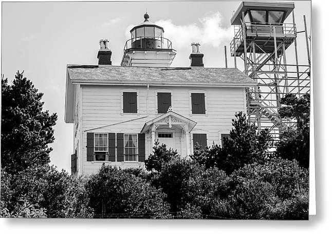 Yaquina Bay Lighthouse Greeting Card by Steven Brodhecker