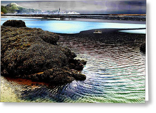 Mick Anderson Greeting Cards - Yaquina Dream Greeting Card by Mick Anderson