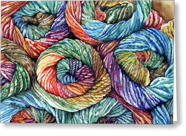 Nadi Spencer Greeting Cards - Yarn Greeting Card by Nadi Spencer