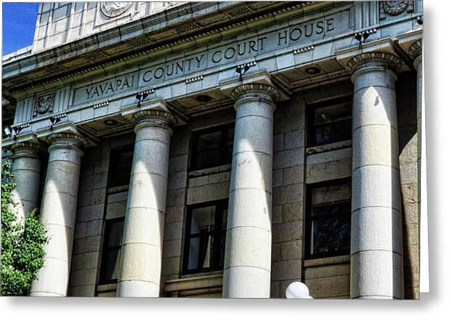 Yavapapi County Court House - Prescott  Greeting Card by Saija  Lehtonen