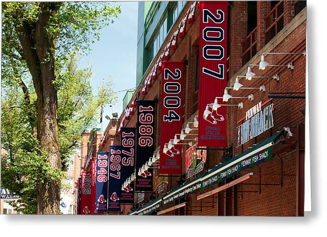 Fenway Park Greeting Cards - Yawkee Way Greeting Card by Paul Mangold