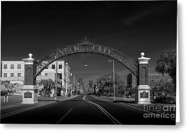 Ybor City Entry Greeting Card by Marvin Spates