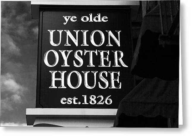 ye olde Union Oyster House Greeting Card by John Rizzuto
