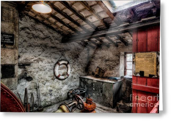 Dilapidated Digital Art Greeting Cards - Ye Olde Workshop Greeting Card by Adrian Evans