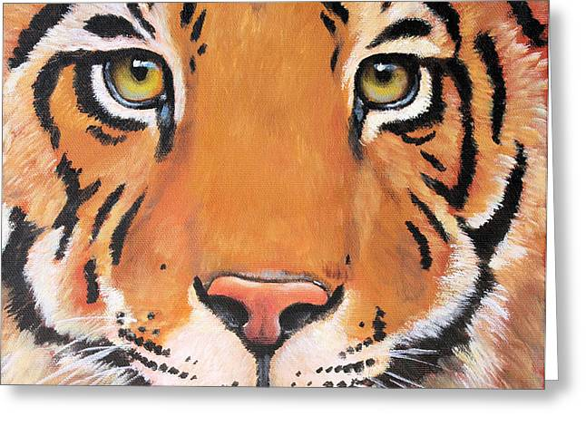 Year of the Tiger Greeting Card by Laura Carey
