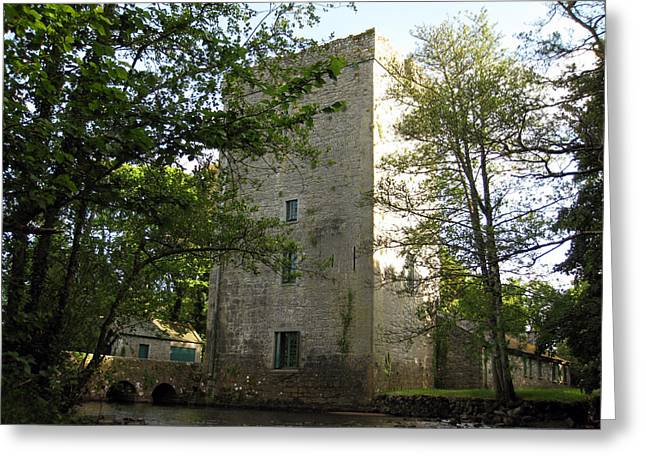 Yeats Greeting Cards - Yeats Tower Greeting Card by John Quinn
