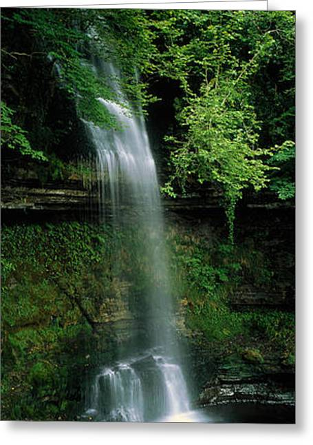 Overflow Greeting Cards - Yeats Waterfall Glencar Co Sligoeire Greeting Card by Panoramic Images