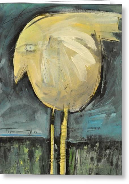 Yellow Bird In Field Greeting Card by Tim Nyberg