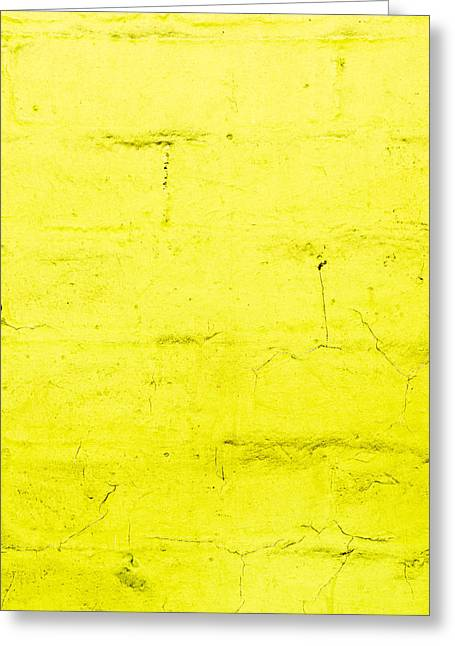 Stonewall Photographs Greeting Cards - Yellow brick wall Greeting Card by Tom Gowanlock