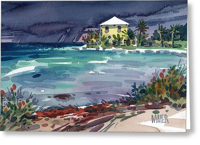Key West Greeting Cards - Yellow Bungalow Greeting Card by Donald Maier