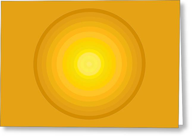 Gradient Greeting Cards - Yellow Circles Greeting Card by Frank Tschakert
