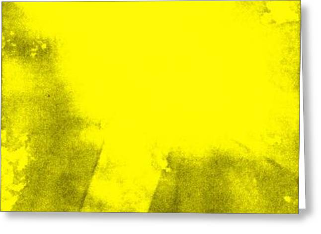 Yellow Cross Greeting Card by Brandi Webster
