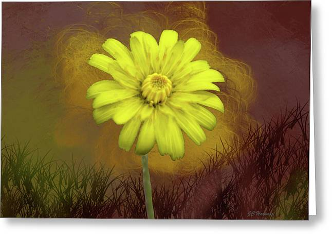 Halinar Greeting Cards - Yellow Daisy Greeting Card by Joe Halinar