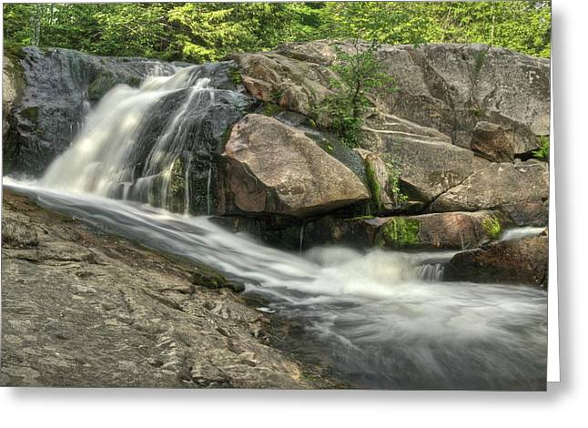 Yellow Dog Falls Greeting Cards - Yellow Dog Falls 4 Greeting Card by Michael Peychich