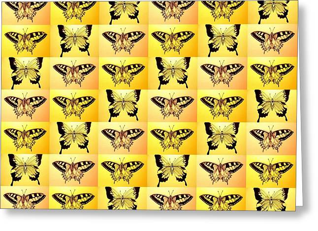 Animals Love Greeting Cards - Yellow Fantasy Greeting Card by Cathy Jacobs