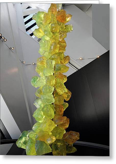 Yellow Glass Rock Tower By Chihuly In Cyrstal Addition To The Ro Greeting Card by Reimar Gaertner