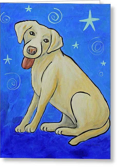 Working Dog Greeting Cards - Yellow Lab Greeting Card by Kenny Francis