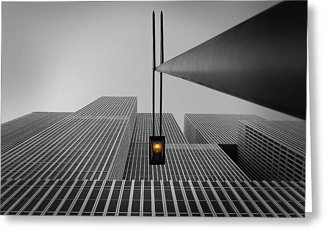 Yellow Light Greeting Card by Wim Schuurmans