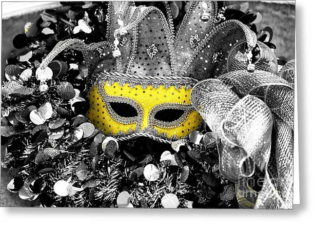 Photo Art Gallery Greeting Cards - Yellow Mask Fusion Greeting Card by John Rizzuto