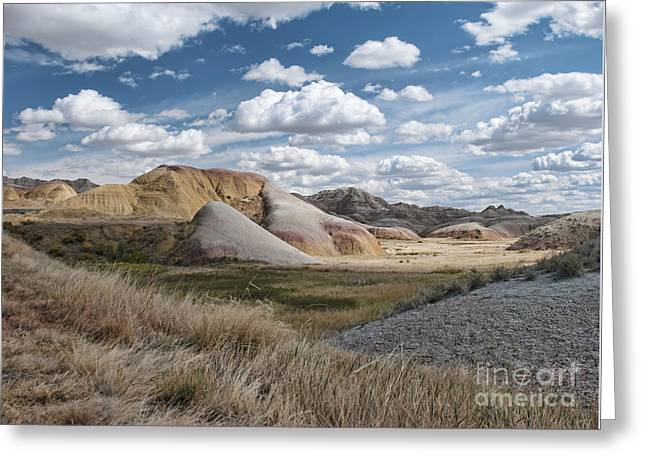 Geology Photographs Greeting Cards - Yellow Mounds Greeting Card by Martina Parsley