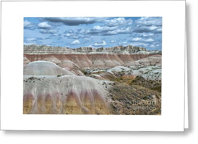 Geology Photographs Greeting Cards - Yellow Mounds Overlook Greeting Card by Martina Parsley