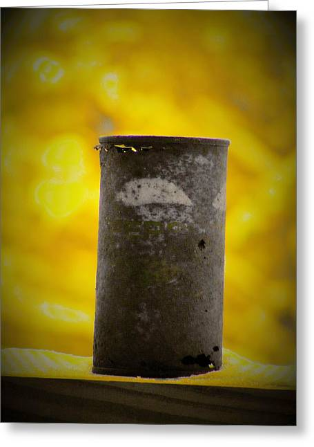 Pepsi Can Greeting Cards - Yellow Pepsi can Greeting Card by Zen BadKitty
