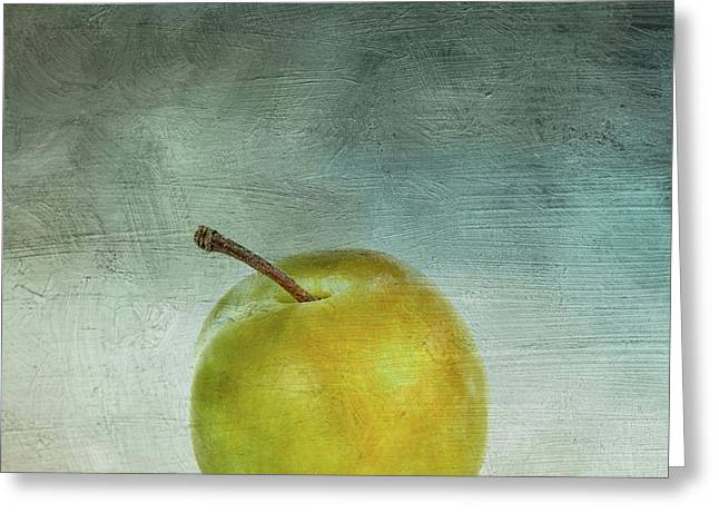 Yellow Plum Greeting Card by Bernard Jaubert