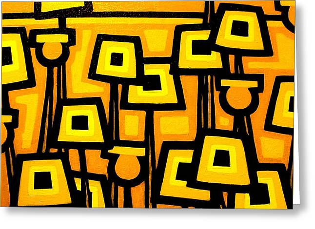 Yellow Poppies  - Featured On The Abc Comedy Series Super Fun Night Greeting Card by John  Nolan