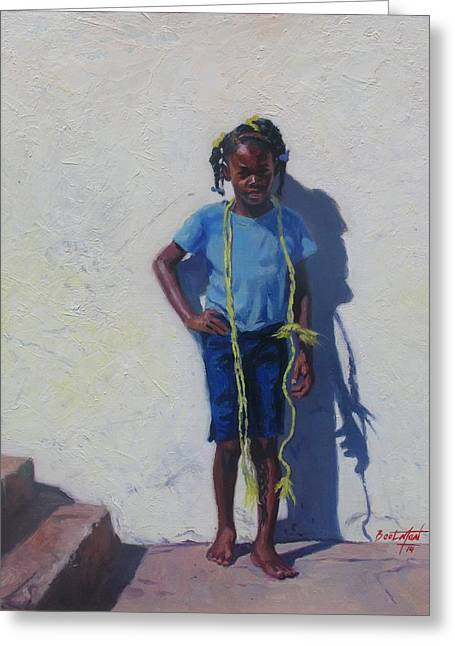 Dreads Greeting Cards - Yellow Rope Greeting Card by Colin Bootman