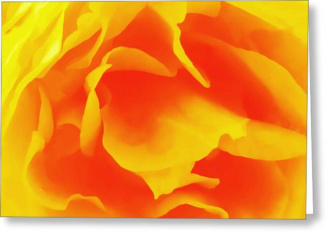 Single Mixed Media Greeting Cards - Yellow Rose Greeting Card by Robert OP Parrish