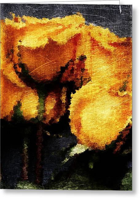 Infidelity Greeting Cards - Yellow Roses Greeting Card by Andrea Barbieri