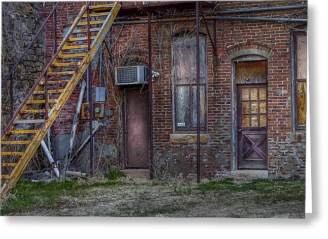 Urban Images Greeting Cards - Yellow Stairway  Greeting Card by Chris Daugherty