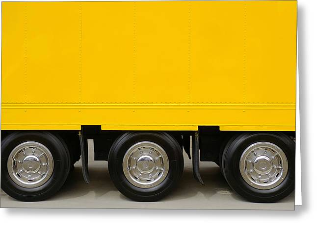 Yellow Truck Greeting Card by Carlos Caetano