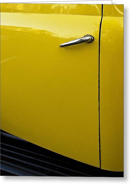 Old Trucks Greeting Cards - Yellow Truck Greeting Card by Marion McCristall