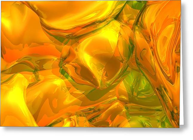 Charlotte Digital Greeting Cards - Yellow Wall Paper Greeting Card by Brian Dahlen