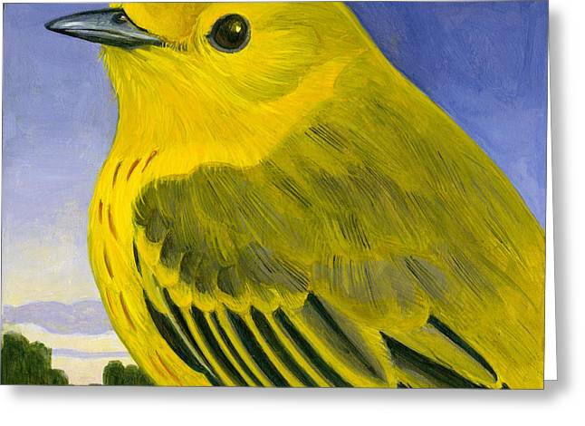 Warbler Greeting Cards - Yellow Warbler Greeting Card by Francois Girard