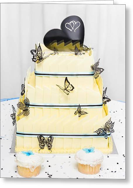Yellow Wedding Cake Made Of White Chocolate Greeting Card by Jorgo Photography - Wall Art Gallery