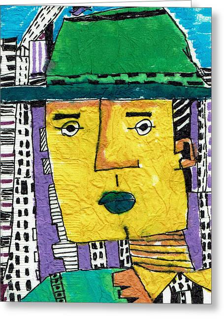Caricature Tapestries - Textiles Greeting Cards - Yellowman Greeting Card by Don Koester