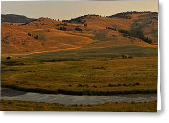 Mountain Valley Greeting Cards - Yellowstone Slough Creek Sunrise Greeting Card by Adam Jewell