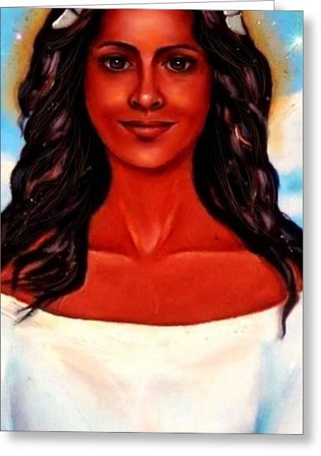 Yemaya-the Goddess Greeting Card by Carmen Cordova