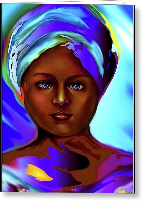 Yemaya -the Ocean Goddess Greeting Card by Carmen Cordova