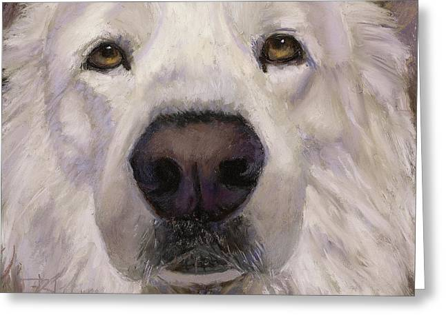 Yes I'm A Great Pyrenees Greeting Card by Billie Colson